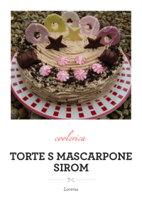Torte s mascarpone sirom