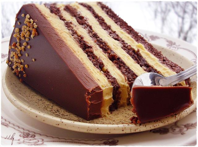 Torta s lješnjacima i karamelom - Mily