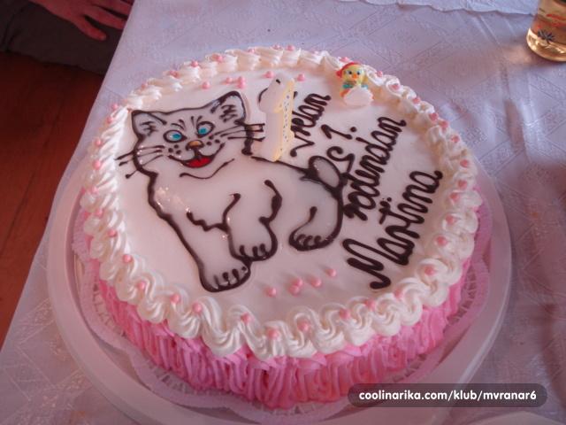 naresci za rođendan Torta za prvi rođendan — Coolinarika naresci za rođendan