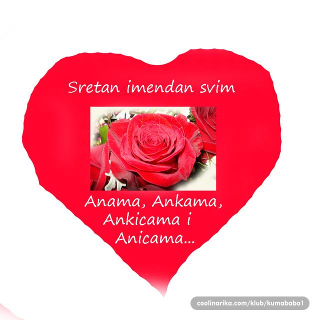 imendan čestitke Sretan imendan drage Ane, Ankice, Anke, Anice, Ančice  imendan čestitke