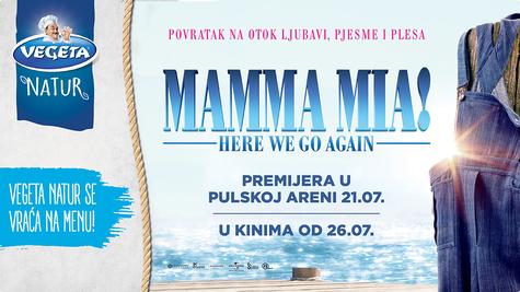 Dobitnici u nagradnom natječaju S Vegetom Natur na premijeru filma Mamma Mia 2 u Pulskoj areni