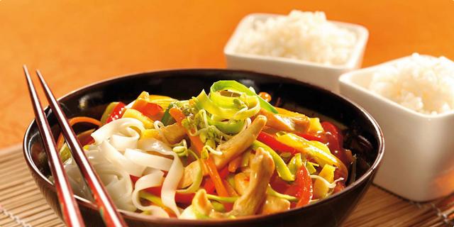 Fant meso s povrćem u woku