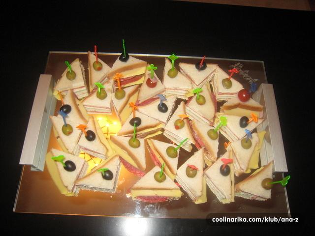 sendviči za rođendan mini sendvici — Coolinarika sendviči za rođendan