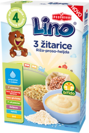 Lino 3 žitarice - riža, proso i heljda