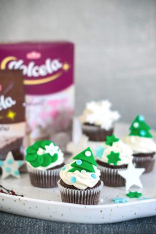 Božićni cupcakes