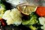 Pečena pastrmka sa povrćem