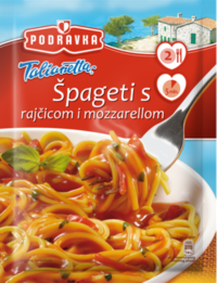Špageti s rajčicom i mozzarellom