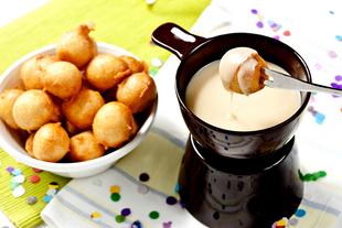 Fritule i fondue od Lino lade milk