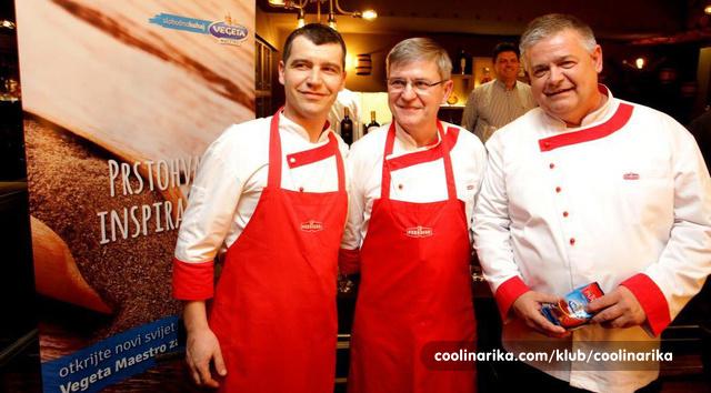 Podravkin gastro tim-Zoran Delić, Zlatko Sedlanić i Dražen Đurišević_Coolinarika