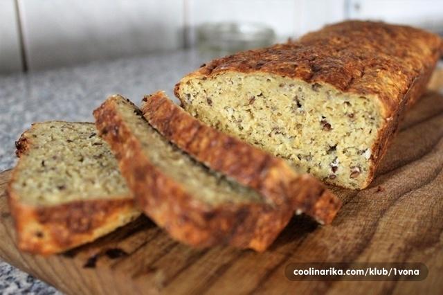 Jednostavni proteinski kruh (samo 4 sastojka)