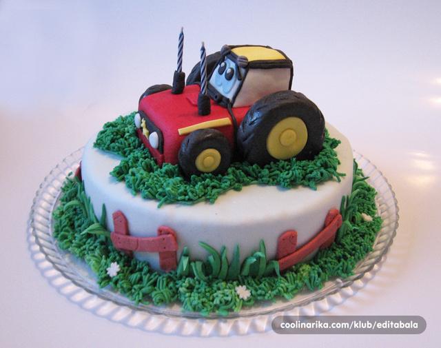 пищевая картинка для торта трактор минут