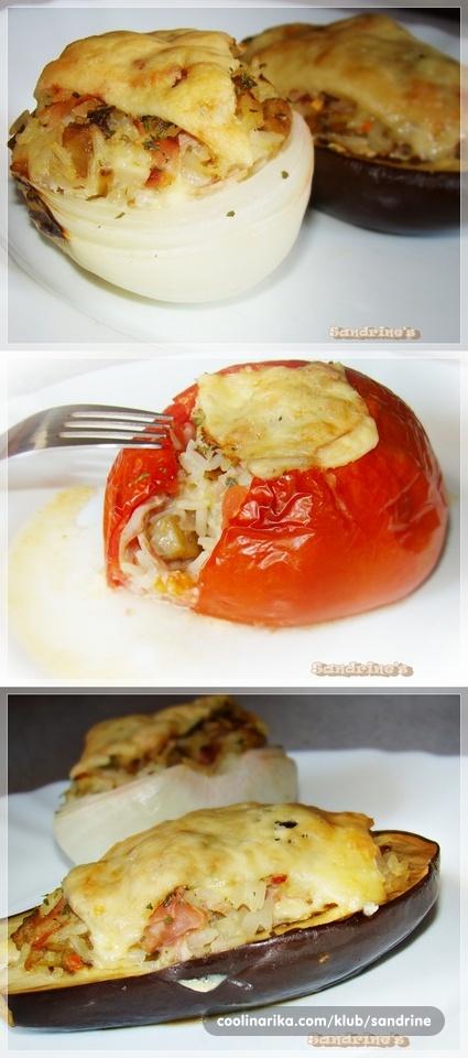 zapečeno punjeno povrće