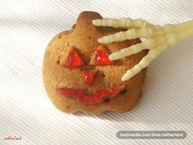 Halloween medeni muffin sa čokoladnim pahuljicama