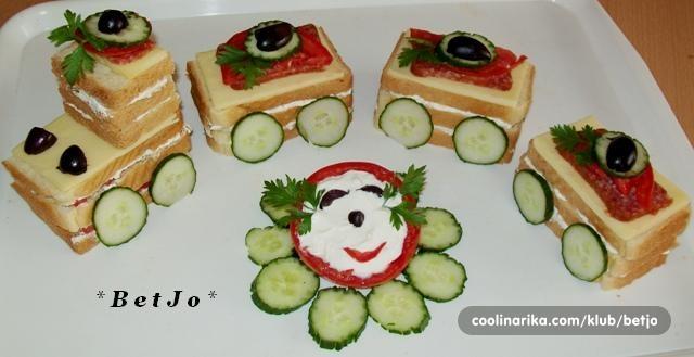 sendviči za dječji rođendan recept Detski sendvic   Voz — Coolinarika sendviči za dječji rođendan recept