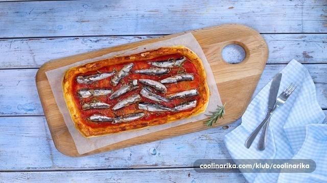Tart sa sardinama i rajčicama 1