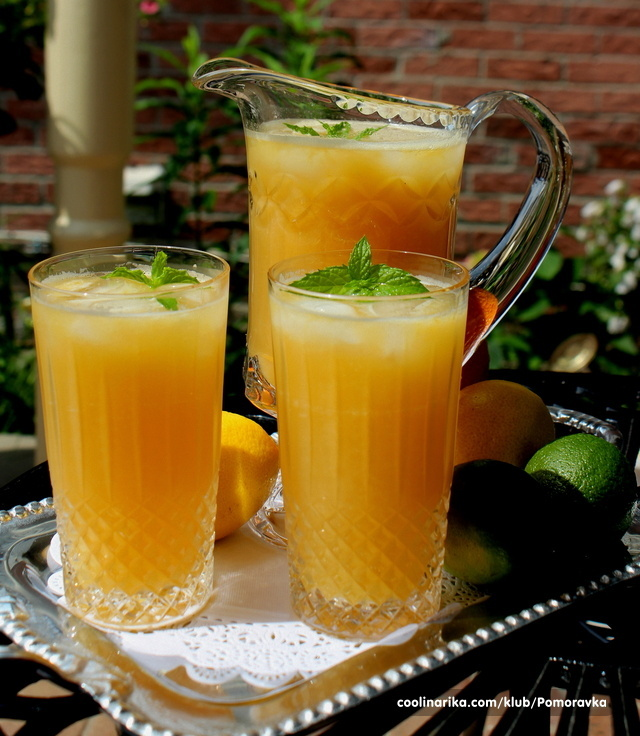 Ledeni čaj sa voćnim sokom