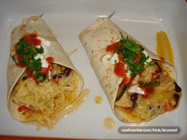 tortilje fajita - brunnat
