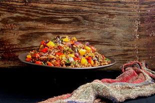Farro salata sa pečenim povrćem
