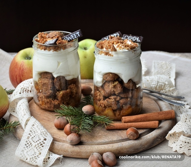 Pita sa jabukama u čaši