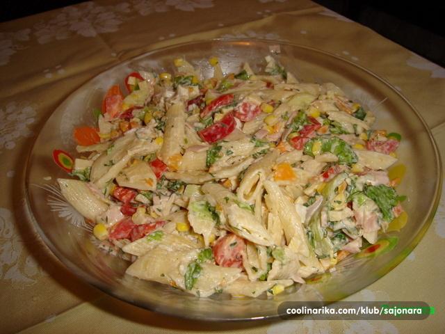 Salate od piletine i tjestenine