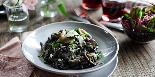 black risotto, traditional, dalmatian, dishes, cuttlefish, www.zadarvillas.com