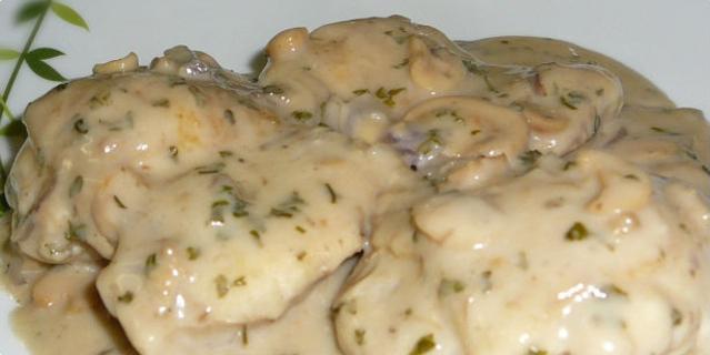 Piletina u sosu od lisičarki