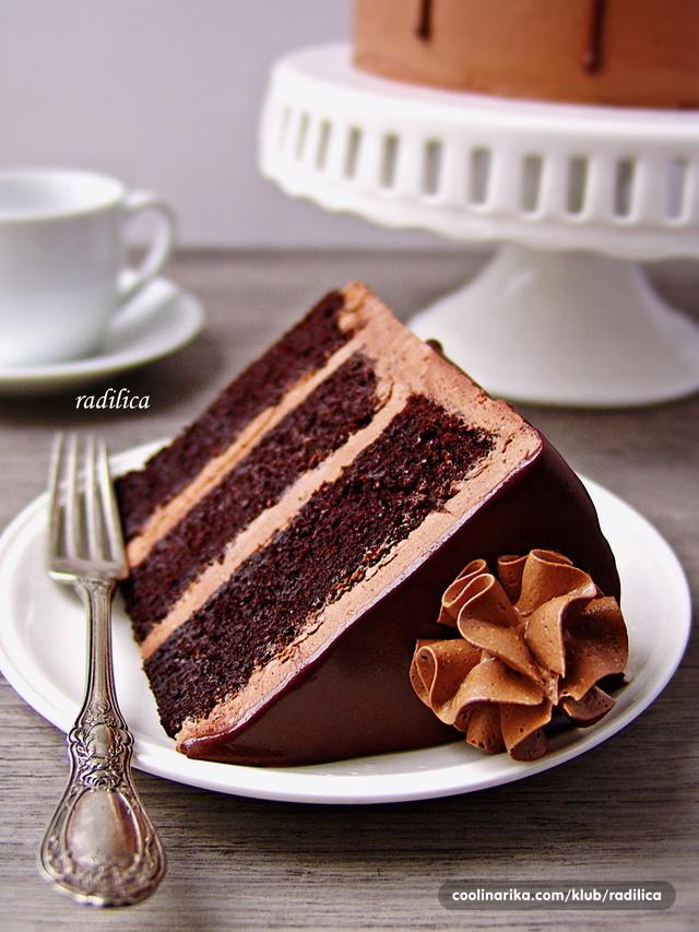 Čokoladna torta - presek