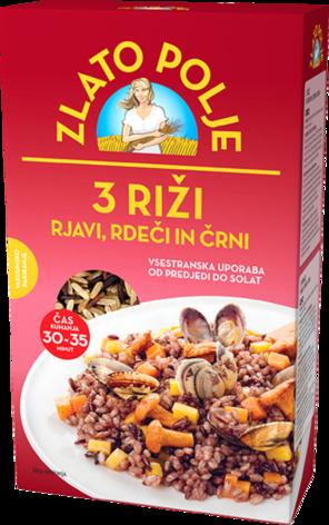Zlato polje Riža 3 riže vakum