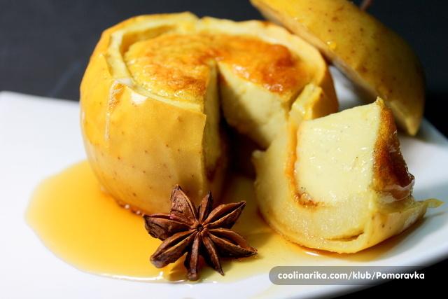 Creme brulee u jabuci
