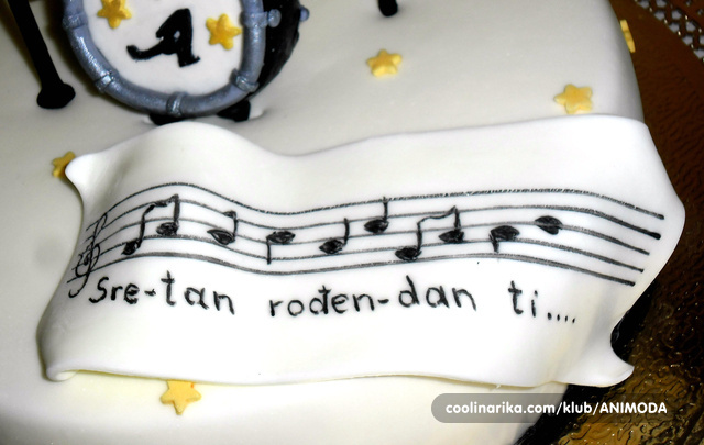 sretan rođendan note Note za muzičara,fondan — Coolinarika sretan rođendan note