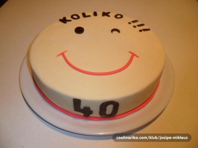 40 rođendan torta za 40.rođendan — Coolinarika 40 rođendan