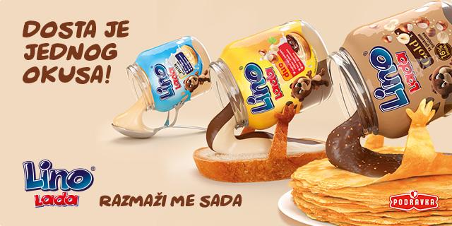 Dosta je jednog okusa! Razmaži se s pet okusa Lino Lade!