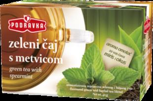 Podravka čaj Zeleni čaj s metvicom