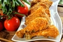 Fried chicken with instant potato...