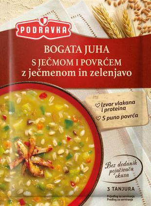 Podravka Bogata juha s ječmom i povrćem