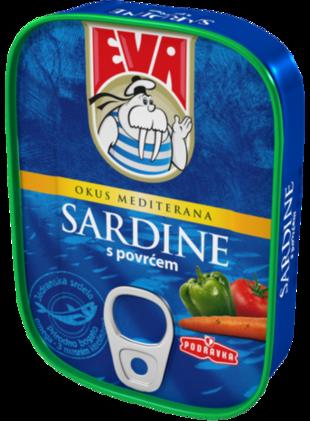 Sardine s povrćem