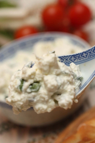 Salata od sira i mladog luka