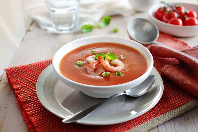 Krem juha od rajčica s kozicama