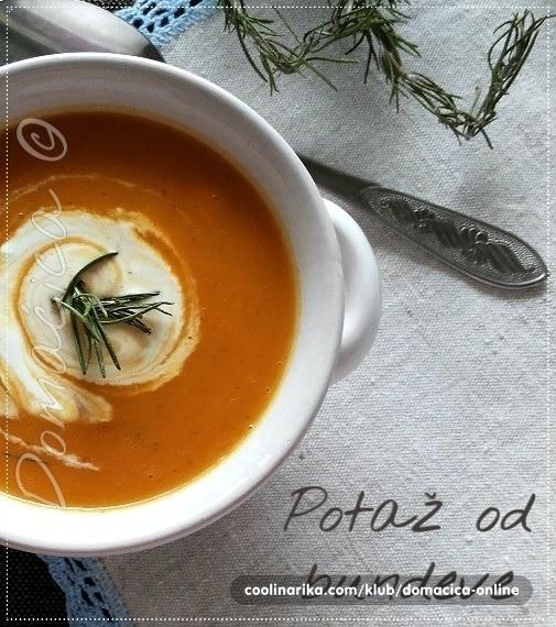 Krem supa (juha) od bundeve (tikve, duleka)
