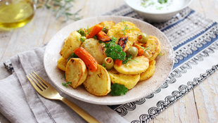 Morocco Style Potato and Carrot salad