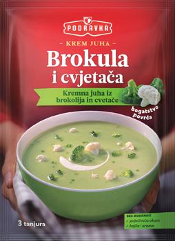 Krem juha brokula i cvjetača