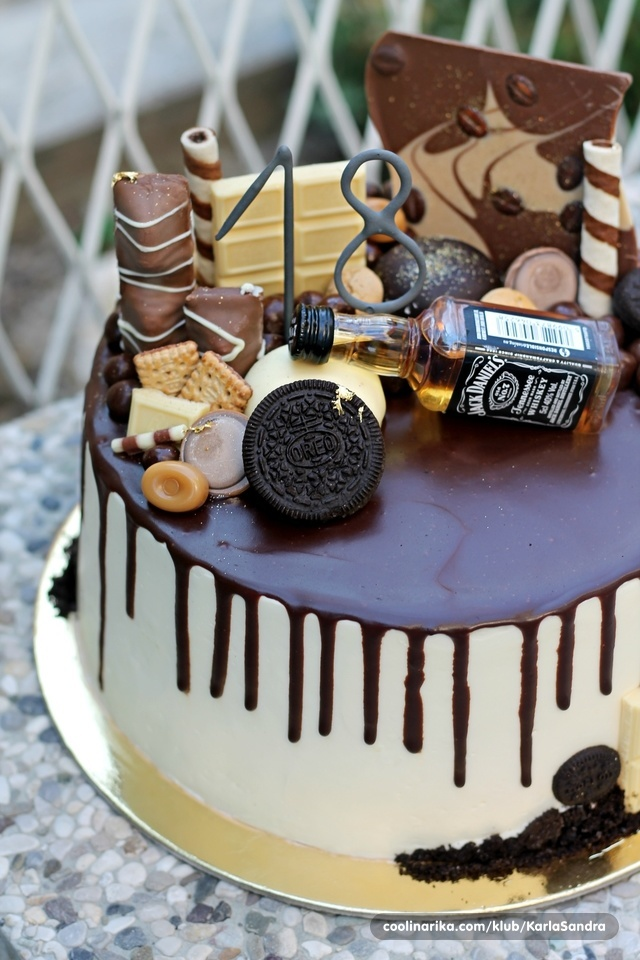Čokoladna kava torta s linoladom