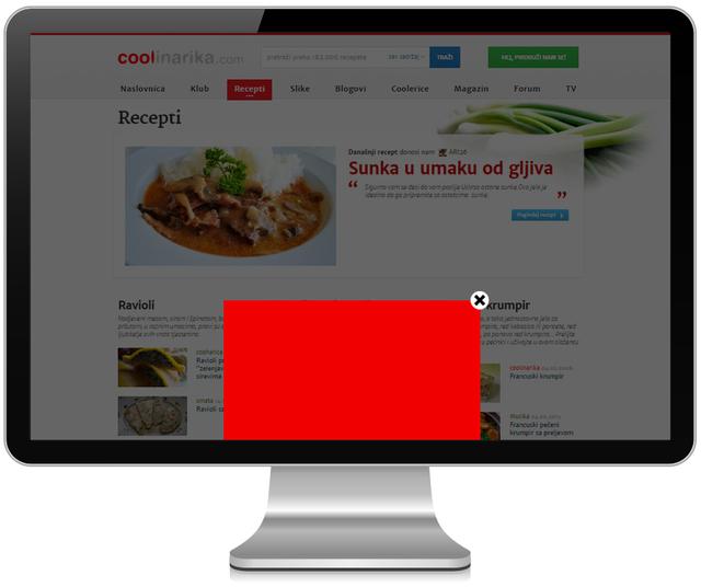 Cjenik oglašavanja na Coolinarika.com