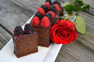 Čokoladna badem torta
