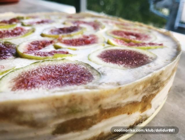 Sirova torta od smokava i kokosa