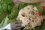 zapečena riža s dvije vrste sira