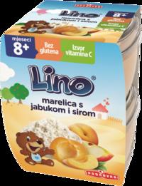 Lino kašica marelica s jabukom i sirom