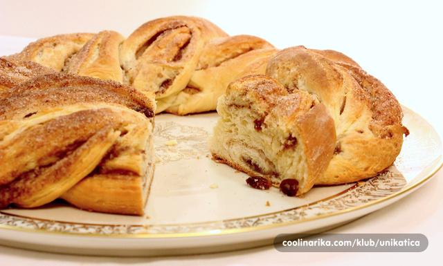 Croissants pletenica s cimetom