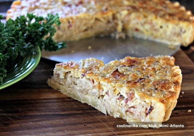 Sauerkraut and bacon pie...