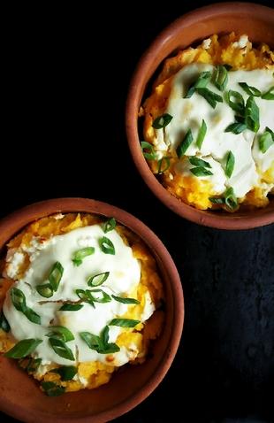 Zapečena palenta sa jajima i sirom